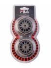 Колеса для роликовых коньков FILA 76 mm. /82A+подшипник ABEC 5 +NS
