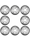 Набор колес для роликовых коньков FILA 80 mm. /82A black