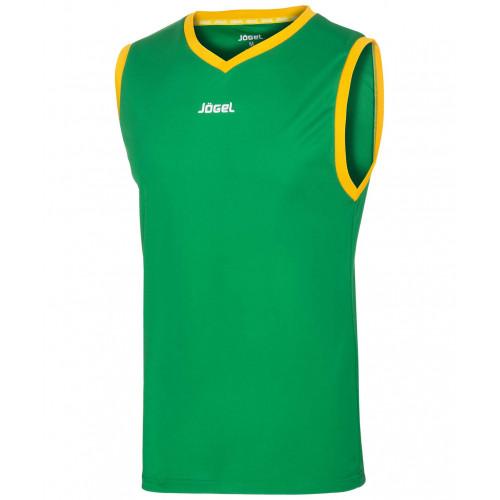 Майка баскетбольная Jögel JBT-1020-034, зеленый/желтый, детская