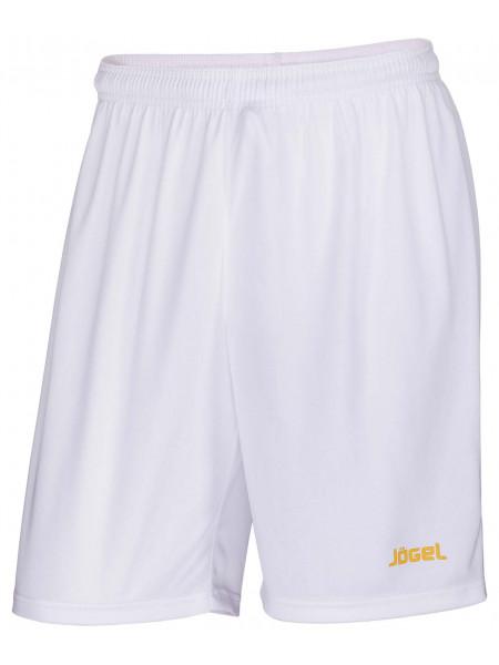Шорты баскетбольные Jögel JBS-1120-014, белый/желтый
