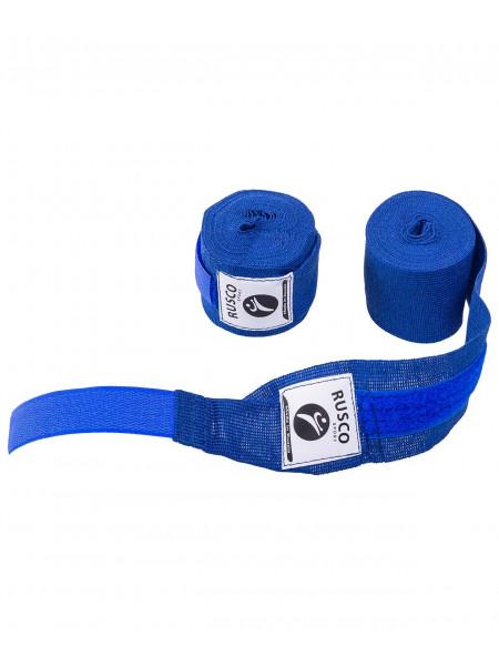Бинт боксерский, Rusco 2,5 м, хлопок, синий