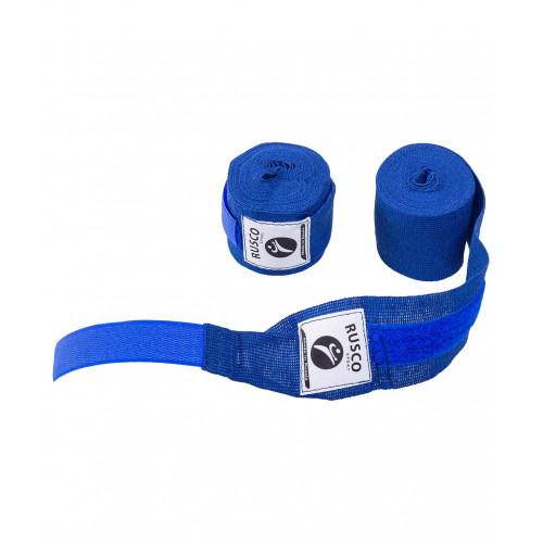 Бинт боксерский, Rusco 3,5 м, хлопок, синий