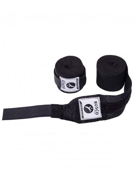 Бинт боксерский, Rusco 2,5 м, хлопок, черный