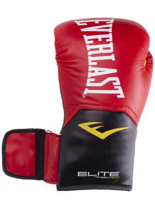 Перчатки боксерские Everlast Elite ProStyle кожзам, красный