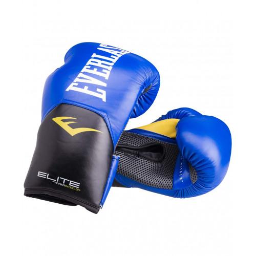 Перчатки боксерские Everlast Elite ProStyle кожзам, синий