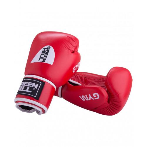 Перчатки боксерские Green Hill GYM BGG-2018, кожа, красные