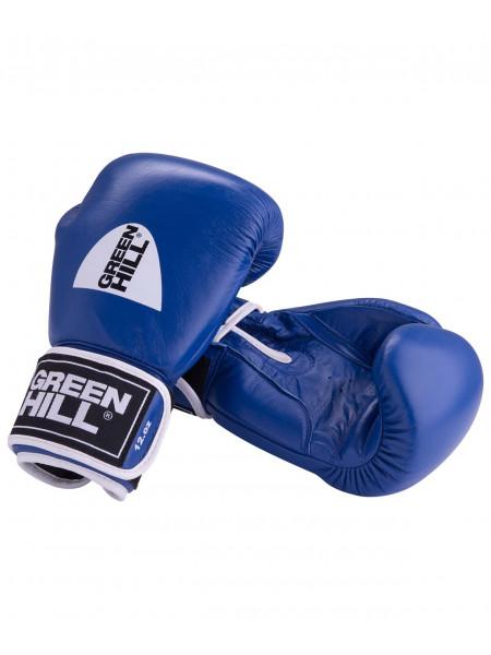 Перчатки боксерские Green Hill GYM BGG-2018, кожа, синие
