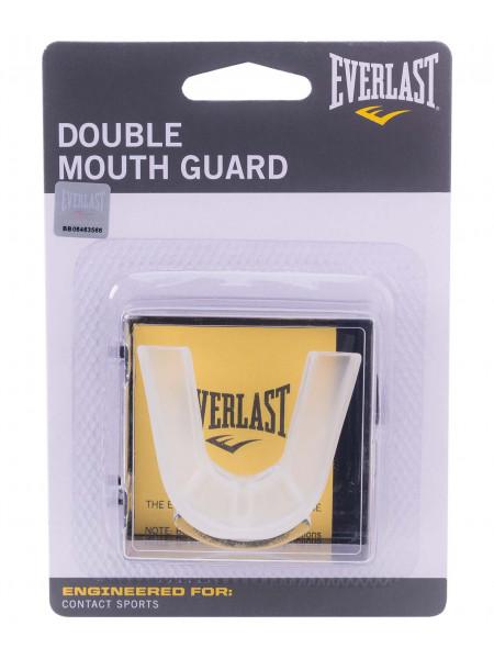 Капа 2-челюстная Everlast Double 4410BE, прозрачная