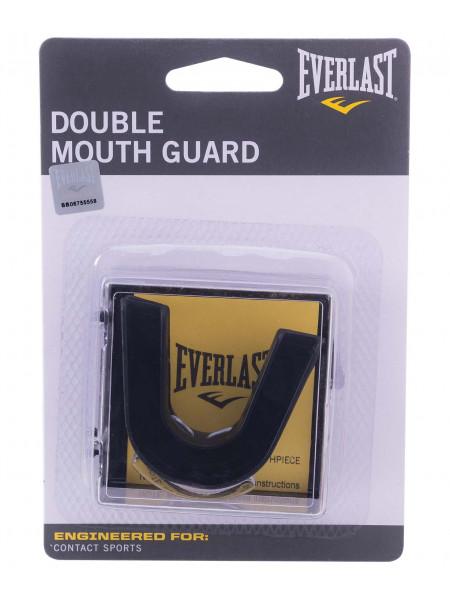 Капа 2-челюстная Everlast Double 4410BE, черная