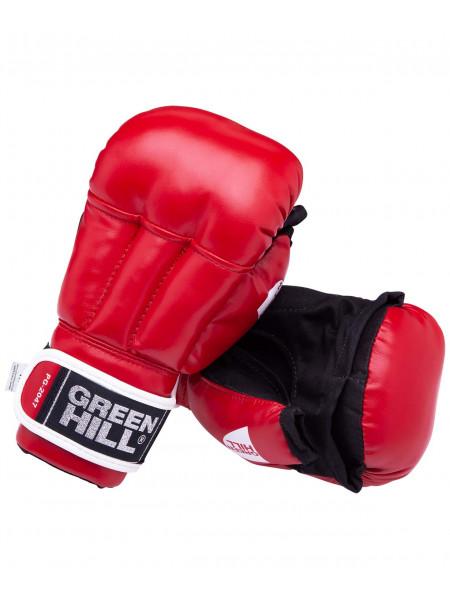 Перчатки для рукопашного боя Green Hill PG-2047, к/з, красный
