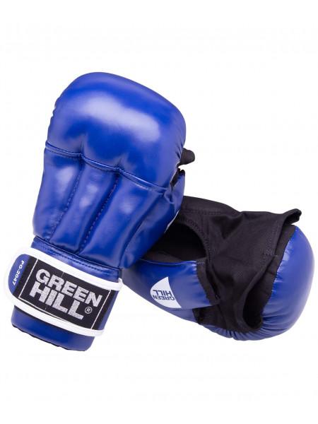 Перчатки для рукопашного боя Green Hill PG-2047, к/з, синий