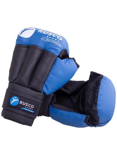 Перчатки для рукопашного боя Rusco, к/з, синий