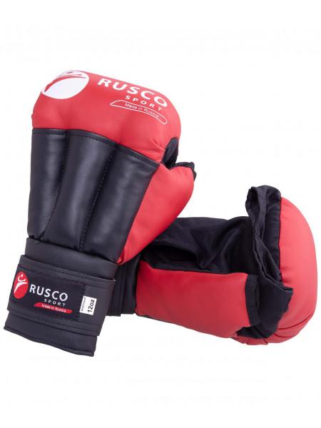 Перчатки для рукопашного боя Rusco, к/з, красный