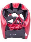 Шлем открытый Green Hill Alfa HGA-4014, кожзам, красный