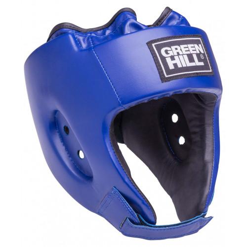 Шлем открытый Green Hill Alfa HGA-4014, кожзам, синий
