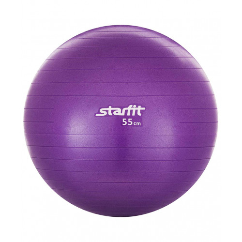 Мяч гимнастический Starfit GB-101 55 см, антивзрыв, фиолетовый
