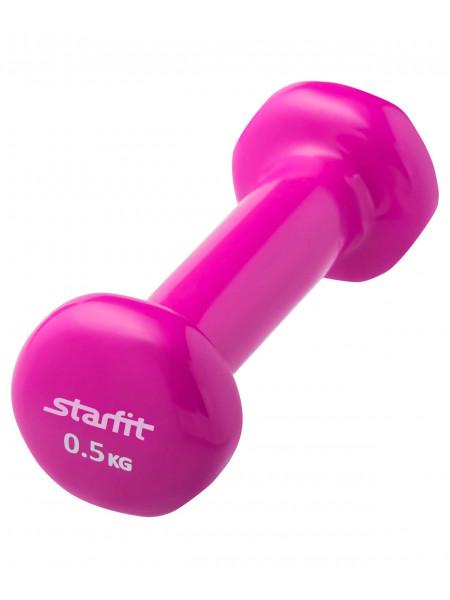 Гантель виниловая Starfit DB-101 0,5 кг, розовая