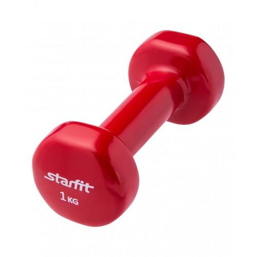Гантель виниловая Starfit DB-101 1 кг, красная