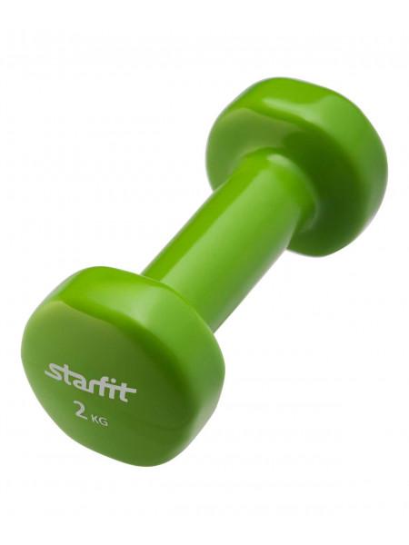 Гантель виниловая Starfit DB-101 2 кг, зеленая