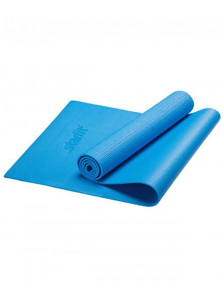 Коврик для йоги Starfit FM-101, PVC, 173x61x0,3 см, синий