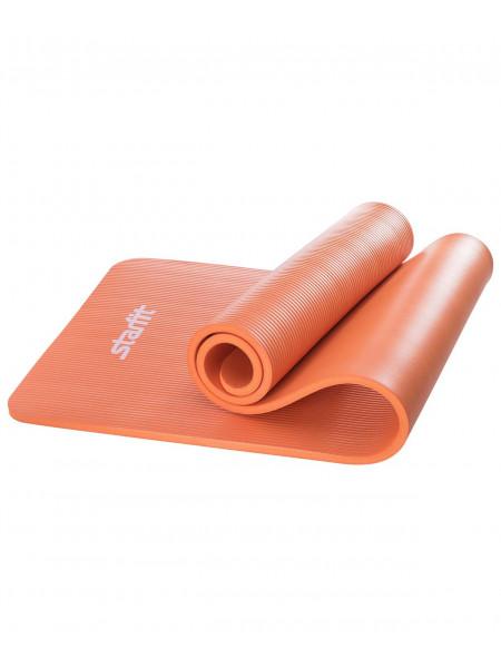 Коврик для йоги Starfit FM-301, NBR, 183x58x1,5 см, оранжевый
