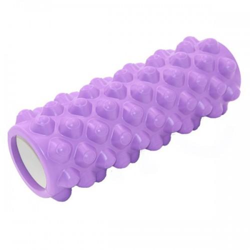 Ролик для йоги B33071 33х14см фиолетовый