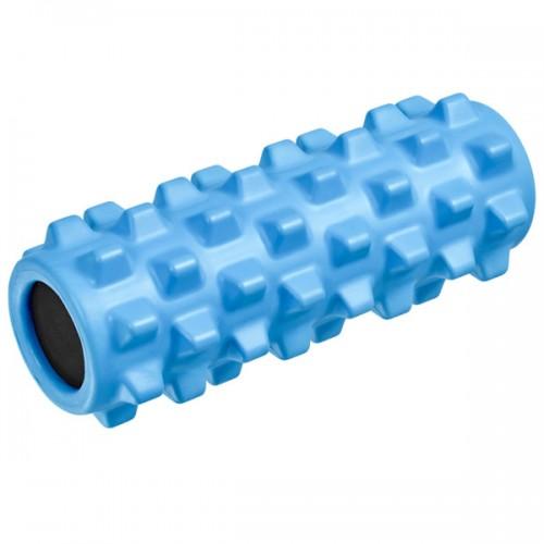 Ролик для йоги полнотелый B33089 33х12см голубой