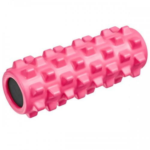 Ролик для йоги полнотелый B33090 33х12см розовый
