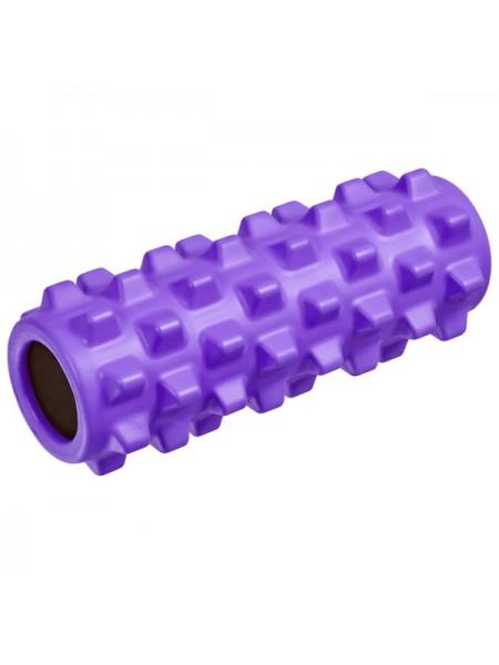 Ролик для йоги полнотелый B33091 33х12см фиолетовый