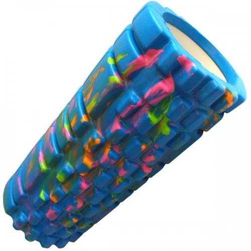 Ролик для йоги B33123 33х14см голубой/мультиколор