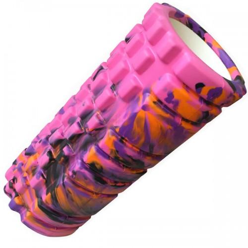 Ролик для йоги B33125 33х14см розовый/мультиколор