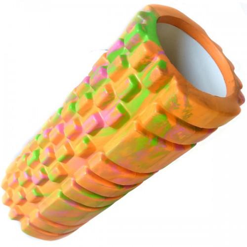 Ролик для йоги B33127 33х14см оранжевый/мультиколор