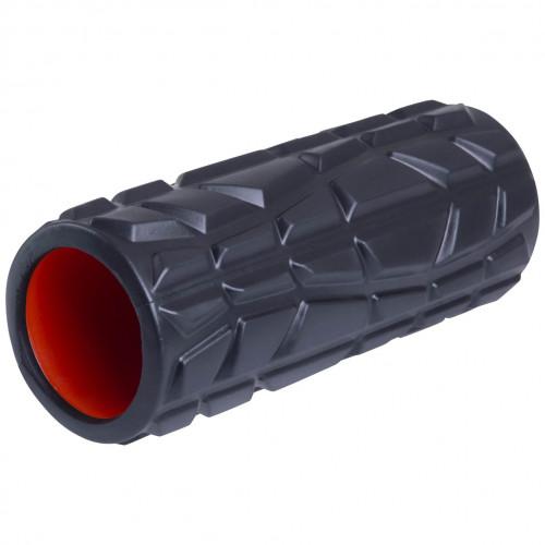Ролик массажный Starfit FA-509 33x13,5 cм высокая жесткость черный/оранжевый