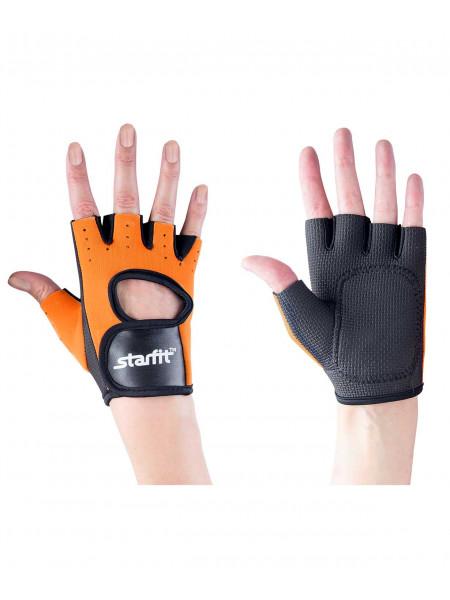 Перчатки для фитнеса Starfit SU-107, оранжевые/черные