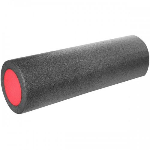 Ролик для йоги полнотелый 2-х цветный  B31511-5 45х15см черно-красный