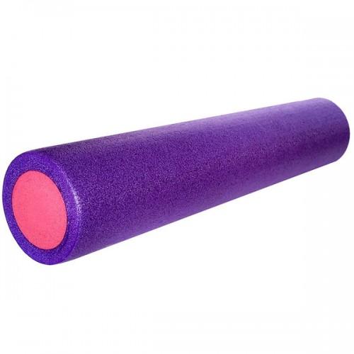 Ролик для йоги полнотелый 2-х цветный PEF100-61-C 61х15см фиолетовый/розовый