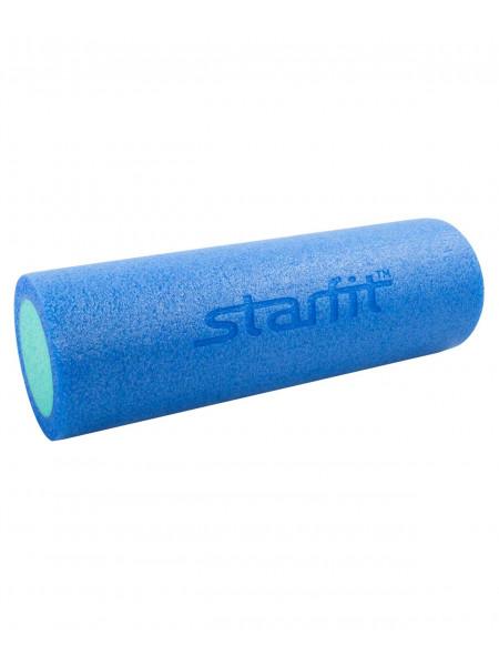 Ролик для йоги и пилатеса Starfit FA-501, 15х45 см, синий/голубой