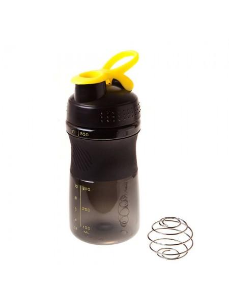 Спортивный шейкер BF-SSHB01-500 черно-желтый