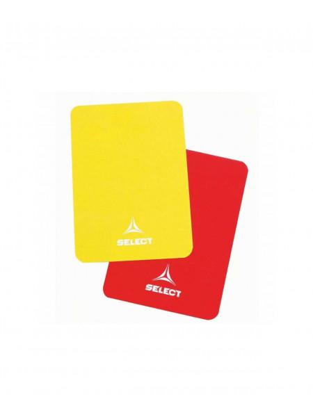 Карточки судейские Select Referee Cards 702116, красный/желтый
