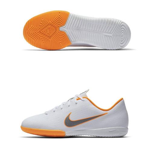 Бутсы футзальные Nike Mercurial VaporX XII Academy GS IC (детские), белый