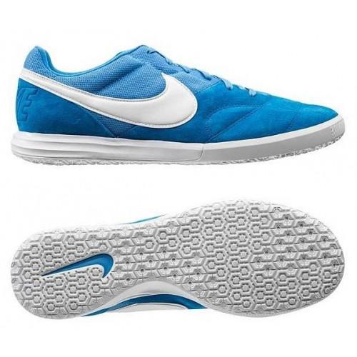 Бутсы футзальные Nike Tiempo Premier II Sala IC, голубой