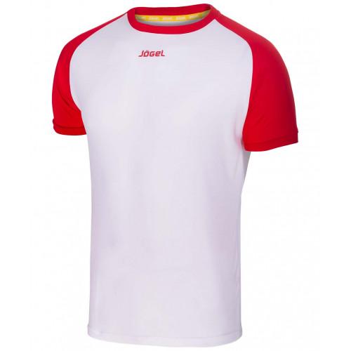 Футболка футбольная Jögel JFT-1011-012, белый/красный