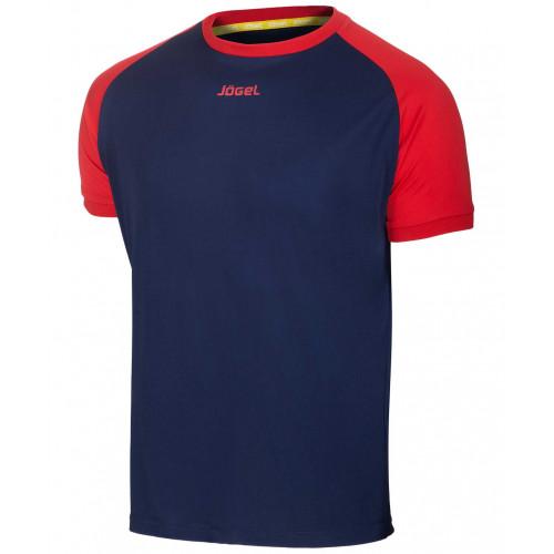 Футболка футбольная Jögel JFT-1011-092, темно-синий/красный