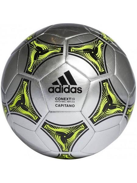 Мяч футбольный Adidas Conext 19 Capitano, серебристый