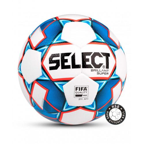 Мяч футбольный Select Brillant Super FIFA №5, белый/синий/красный
