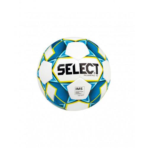 Мяч футбольный Select Numero10 IMS №5, белый/синий/желтый