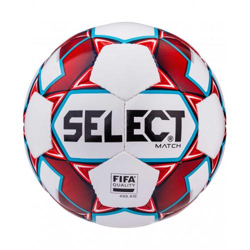 Мяч футбольный Select Match FIFA №5, белый/синий/красный