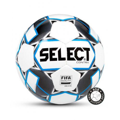 Мяч футбольный Select Contra FIFA 812317, №5, белый/синий/серый/черный