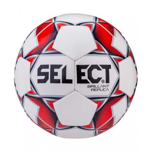 Мяч футбольный Select Brillant Replica №5 белый/красный/серый