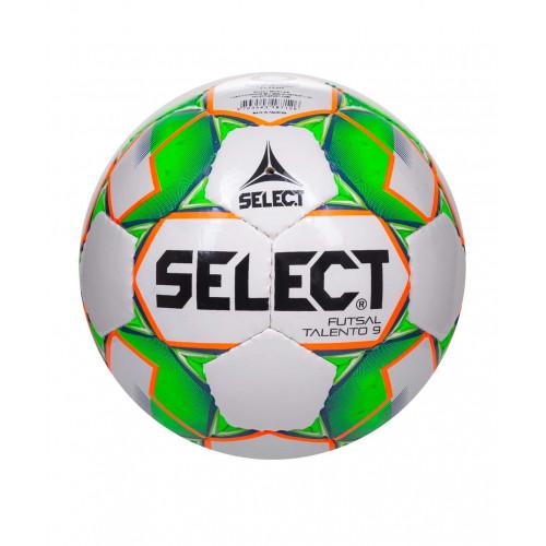 Мяч футзальный Select Talento 852615, U-9, №2, белый/зеленый/оранжевый